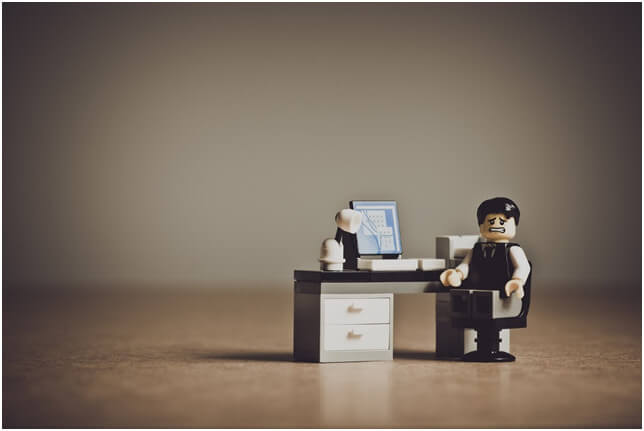 lego man disappointed laptop application rejected